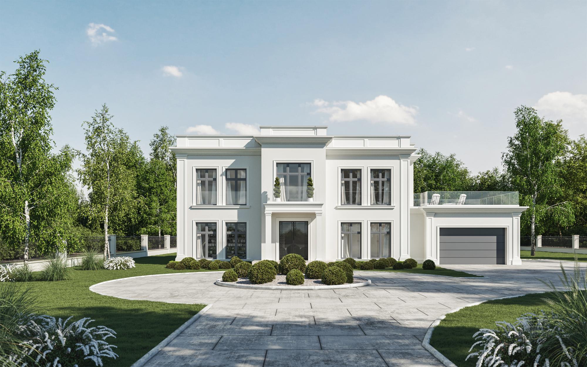 Gotowe projekty domów willi chic